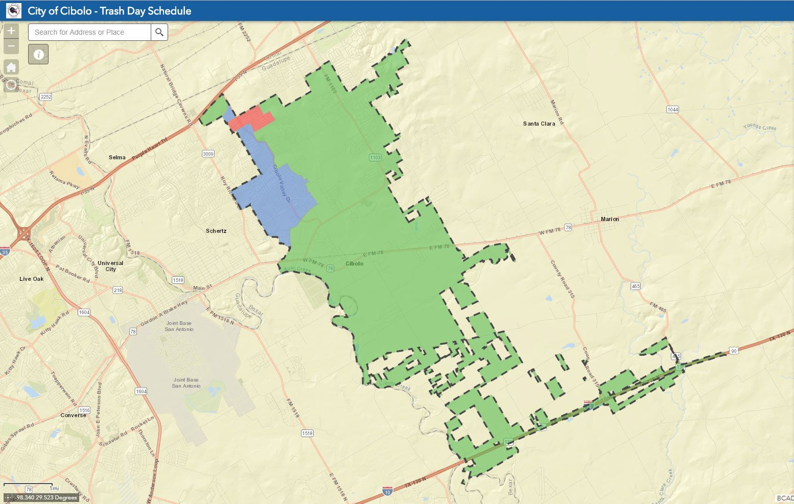GIS Mapping & Information | Cibolo, TX - Official Website