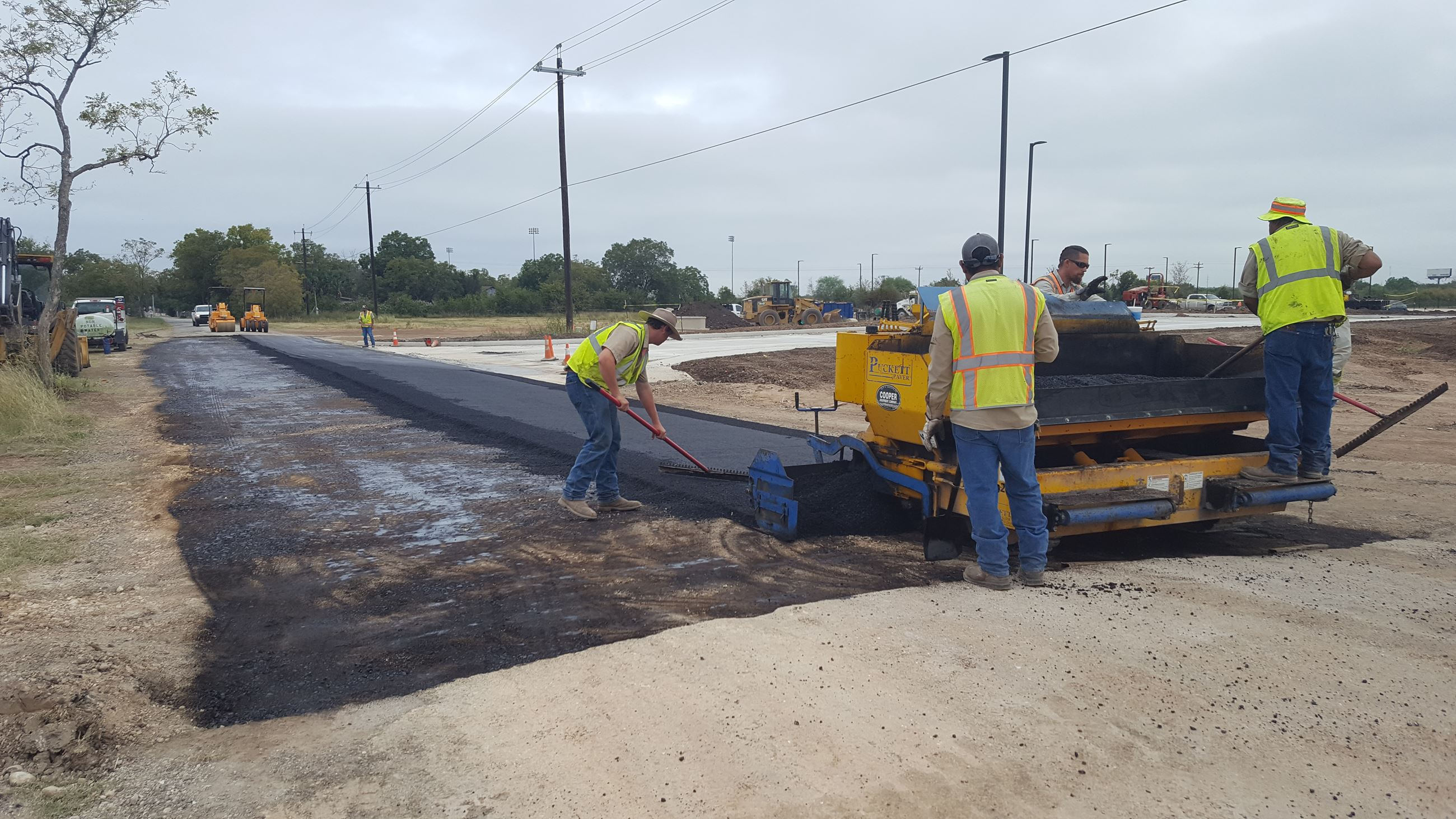 Asphalt lay down at Main St at sports complex