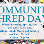 April 2019 Shred Day Flyer