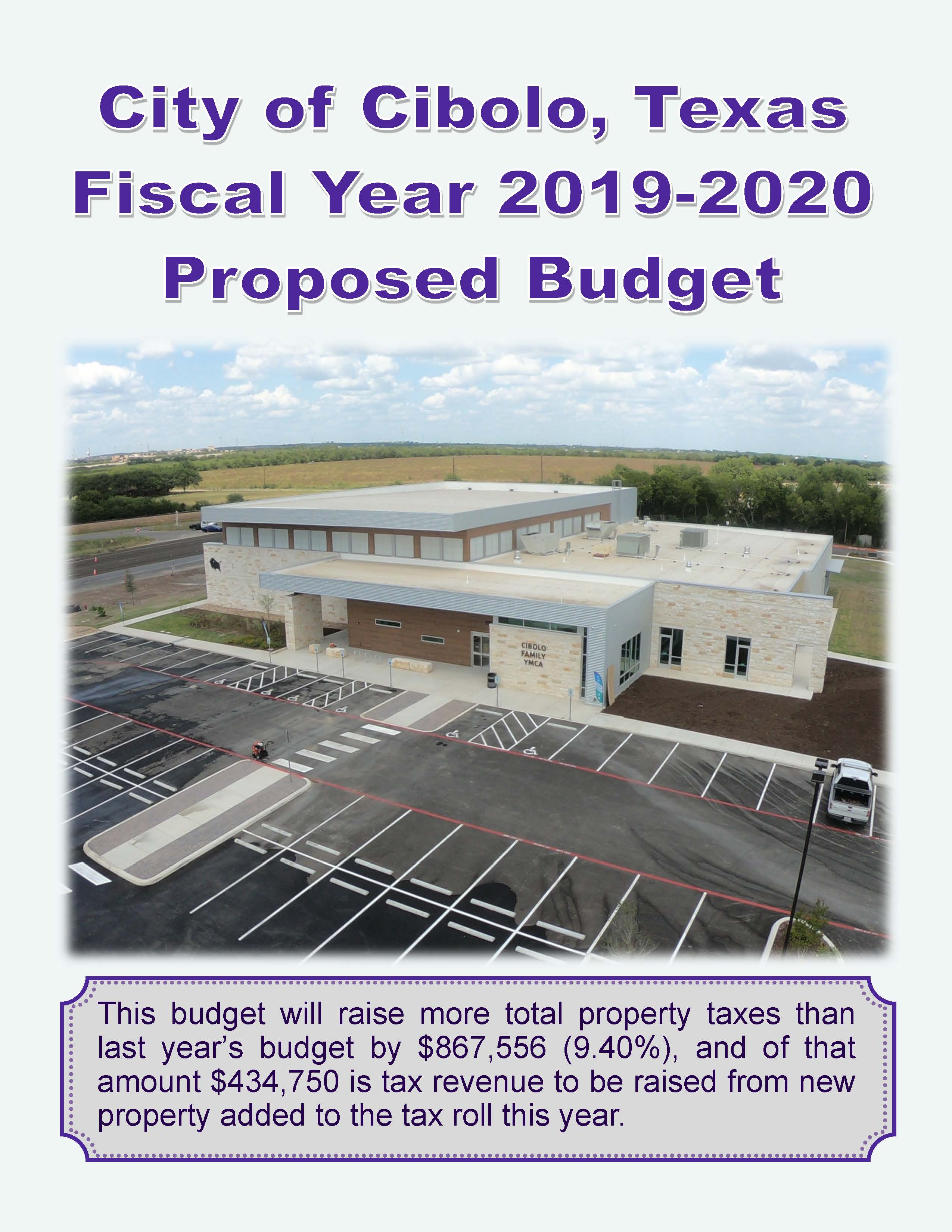 Proposed FY 2019-2020 Budget