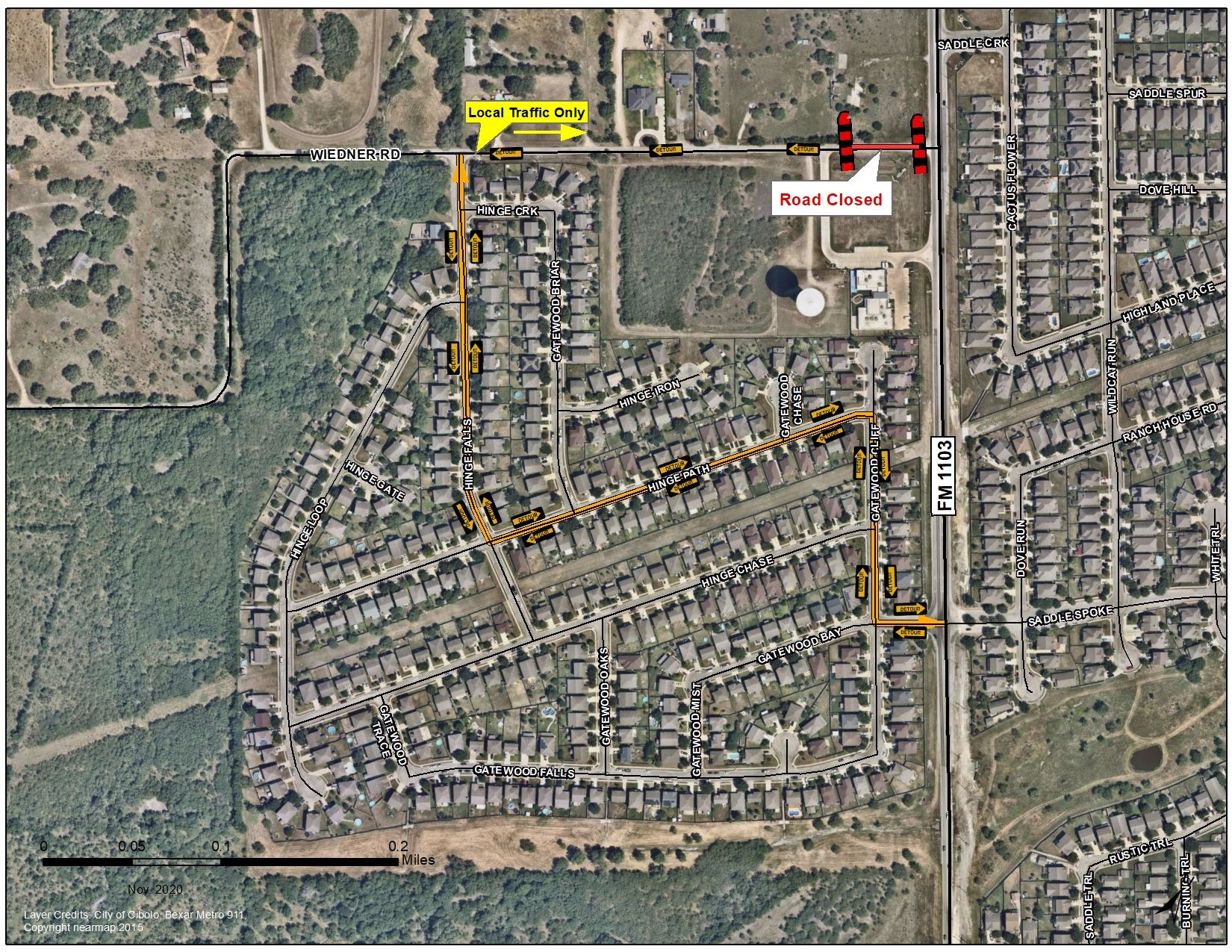 Wiedner Rd Closure Nov 2020