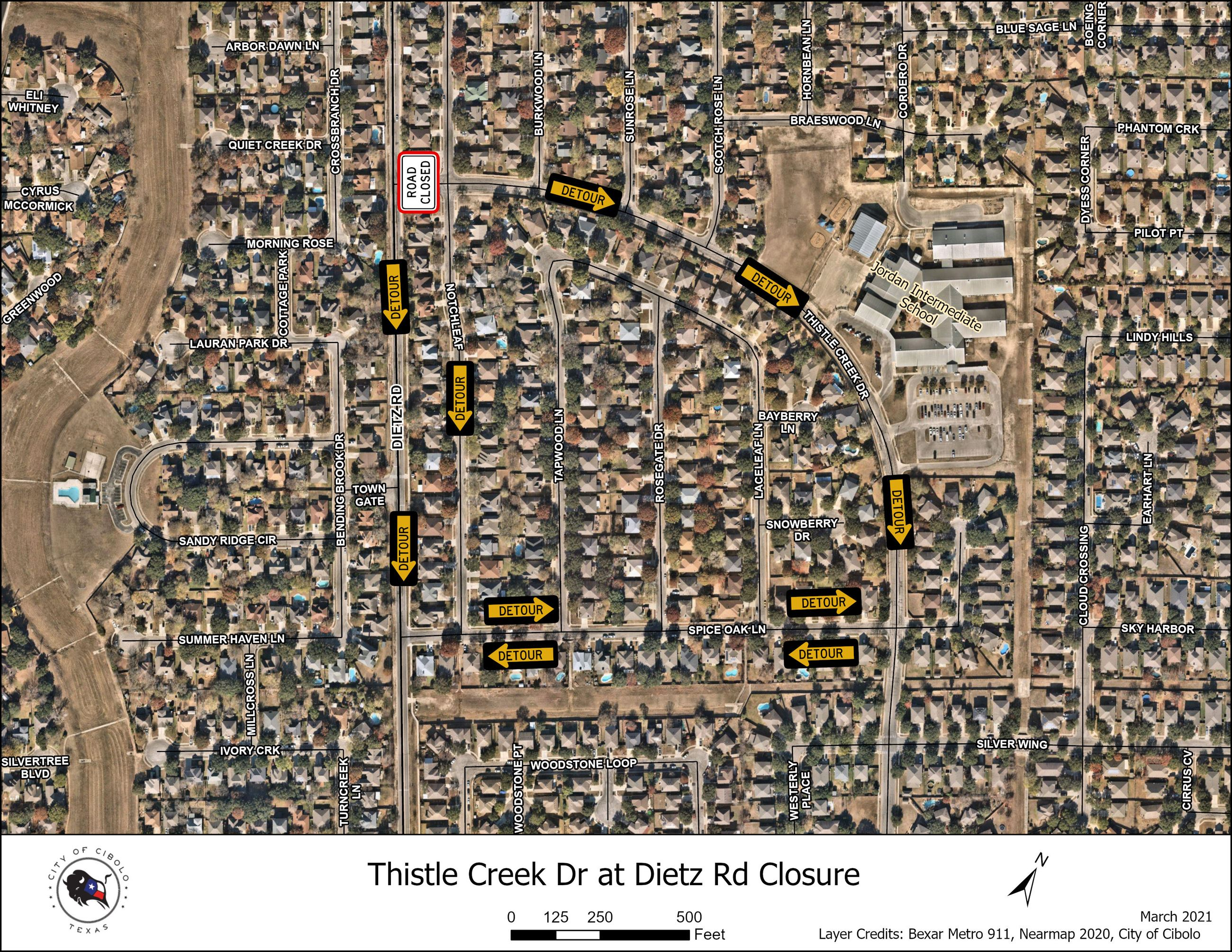 Thistle Creek and Dietz closure 2021