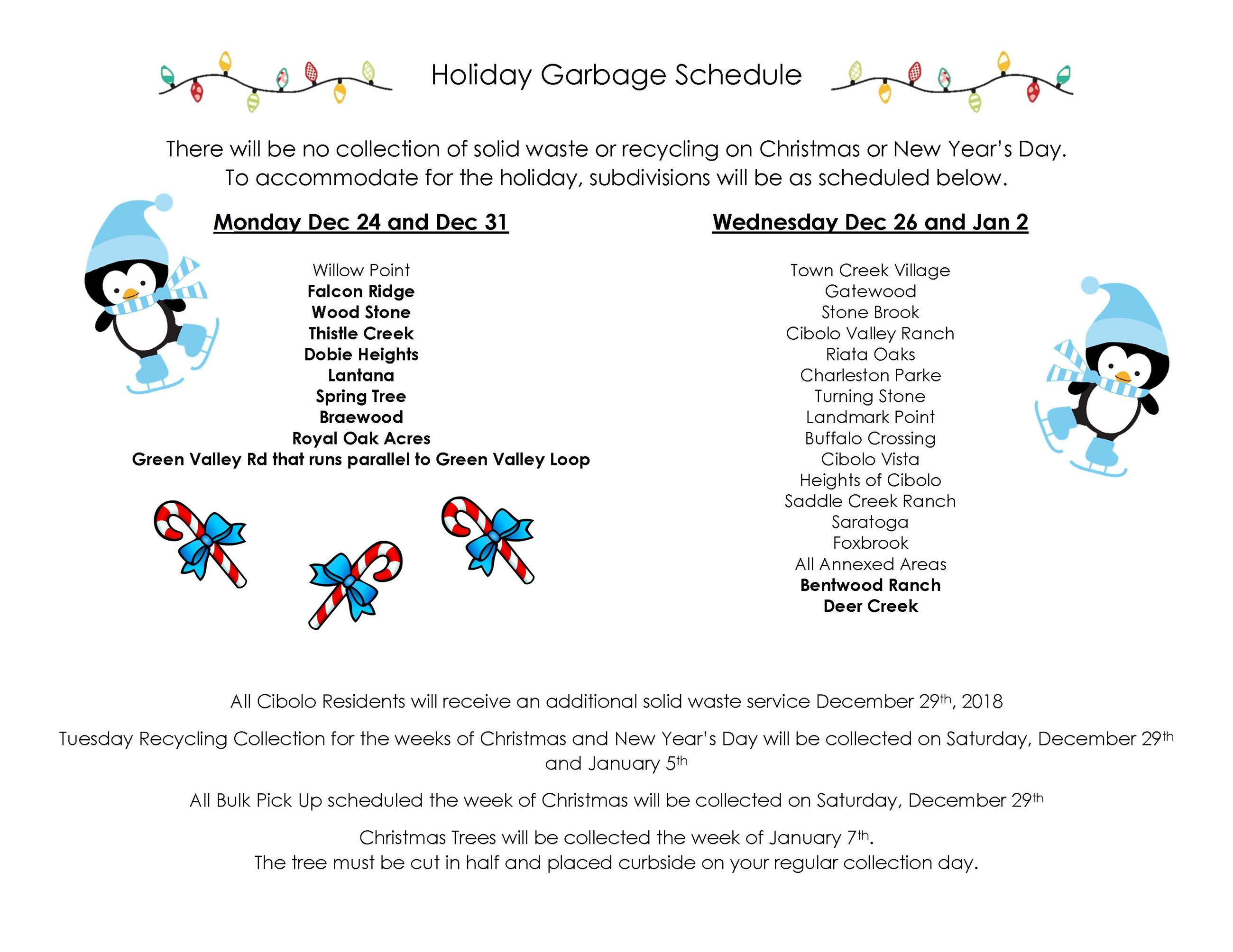 Holiday Garbage Schedule 2018 (002)