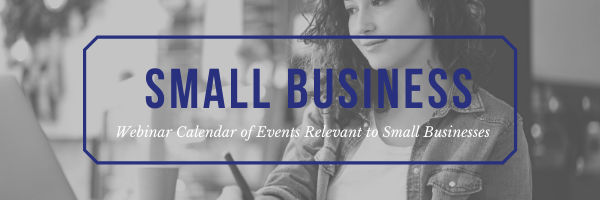 Small Business Webinar Calendar